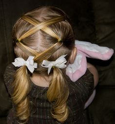 I am going to have to do this with my daughter's hair when she gets some. Lol.