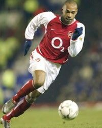 Thierry Henry. Remember him for his time at Arsenal when he changed the rules for strikers in the premier league. What a player