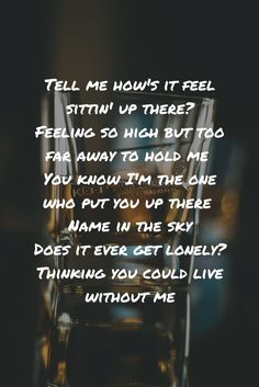 Without Me by Halsey lyrics // Tell me how& it feel sittin& up there? Without Me by Halsey lyrics // Tell me how& it feel sittin& up there? Me Too Lyrics, Yours Lyrics, Cool Lyrics, Music Lyrics, The Feeling Lyrics, Song Lyric Quotes, Music Quotes, Life Quotes, Quotes Quotes