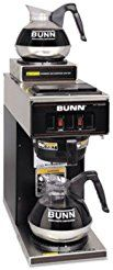 Christmas deals week Bunn - 12-Cup Two-Station Commercial Pour-O-Matic Coffee Brewer Stainless Steel Black quot