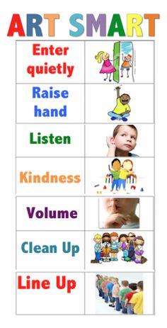 Princess Artypants: Visual Arts in the PYP: Classroom Organization 2 Art Class Rules, Art Classroom Rules, Art Room Rules, Art Classroom Management, Art Rules, Classroom Posters, Classroom Organization, Class Management, Classroom Decor
