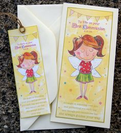 Items similar to Personalised Guardian Angel First Communion Card and Custom Bookmark on Etsy First Communion Cards, First Holy Communion, Custom Bookmarks, Bookmark Printing, Your Message, Evie, Kid Names, Your Cards, Angel