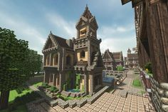 Want some inspiration for building your home in Minecraft? Here's a selection of the best Minecraft houses we found in Villa Minecraft, Minecraft Medieval House, Architecture Minecraft, Images Minecraft, Minecraft Houses Xbox, Minecraft Structures, Minecraft Mansion, Minecraft Houses Survival, Minecraft Castle