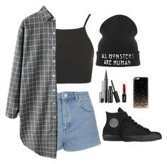 """Moon?"" by luhpessoa ❤ liked on Polyvore featuring Topshop, Converse, NYX and Marc Jacobs"