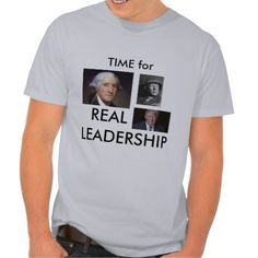 Time for Leadership T-Shirt showing Washington, Patton and Trump. Available in many different styles including hoodies.