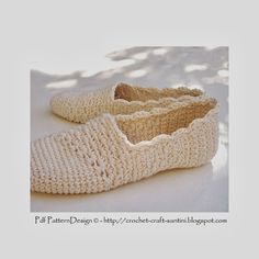 Crochet & Craft: SLANTING LINE TOE-PIECE CROCHET SLIPPER-ESPADRILLES-TOMS