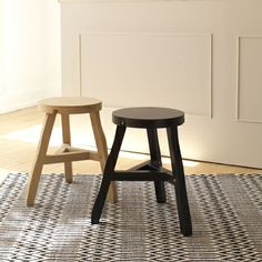 Tom Dixon Offcut Stool | Pays homage to industrial production processes by using discarded and curved pieces of wood to create it's design.