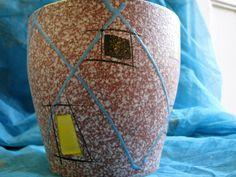 Vintage 1950s Planter – Large & Pastel Enamel Glaze – German Pottery by Scheurich Keramik – Mid Century Modernist – WGP Fat Lava Rockabilly von everglaze auf Etsy
