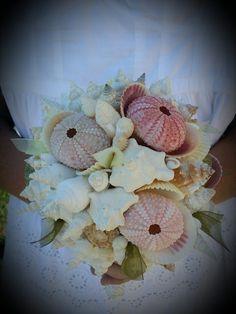 Beach Wedding Pastel Seashell Sea Urchin Bouquet- 'Rebecca collection' by seashellsbyseashore