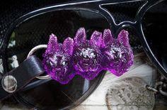 брелок с рысью из стекла бренда Joker-studio