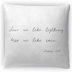"Kavka Love Me Like Lightning Throw Pillow Size: 18"" H x 18"" W x 4"" D"