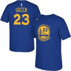 c7cc71218be9 Mens Golden State Warriors Draymond Green adidas Royal Blue Net Number T- Shirt