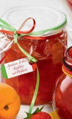 aprikosen erdbeer konfituere mit  weisswein