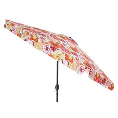 Pillow Perfect Floral Fantasy Raspberry Patio Umbrella   Overstock™  Shopping   Big Discounts On Pillow Perfect Patio Umbrellas