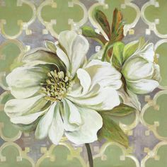Found it at Wayfair - Flora Pattern I by Sandy Doonan Painting Print on Wrapped Canvas