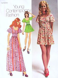 My mom made me this exact same dress (short), in a white and lime green check fabric. - Sharl