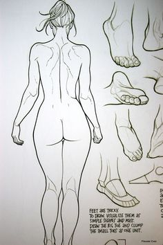 Feet are Tricky. To Draw. The Art of Frank Cho ~from Drawing Beautiful Women: The Frank Cho Method: Flesk: 2014. #Crafts