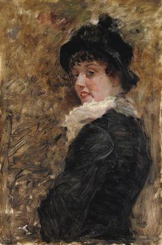 Giuseppe De Nittis - Ritratto di giovane donna