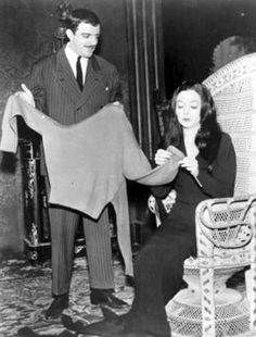 """Morticia Addams knitted in almost every episode of """"The Addams Family""""."""
