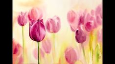 Tulips in Watercolors Painting Tutorial