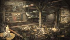 Docklands Tavern with mechanized shark | Locations
