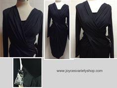 Pamela McCoy Black Wrap Dress Bodycon Stretch Size S