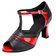 Zapatos de baile(Negro) -Latino / Salsa-No Personalizables-Tacón Carrete 5267711…