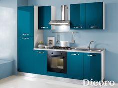 Cocinas Pequeñas - Venere Flat Interior Design, Luxury Kitchen Design, Kitchen Room Design, Kitchen Cabinet Design, Home Decor Kitchen, Interior Design Kitchen, Interior Ideas, Simple Kitchen Cabinets, Open Kitchen