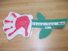 Preschool Crafts for Kids*: Handprint Flower Mother's Day Craft