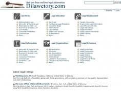 Dilawctory Law Directory is a comprehensive on-line guide to law firms, law organizations, law institutions, lawyers, advocates, attorneys, solicitors and barristers.