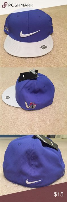on sale 8129d a6bbc NWT Nike Flex Fit Hat (L XL) -NWT Nike Flex Fit Straight Bill Hat -Hat is a  Blue Type Color with Dark White Bill -Brand New, Never Worn!