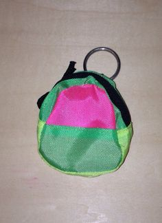 80's Neon Backpack Keychain - because in the 80s and 90s, ANYTHING could be turned into a keychain!!