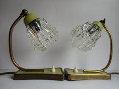 Vintage Tischlampen - 1 Paar Nachttischlampen 50er Jahre - ein Designerstück von MaDuett bei DaWanda