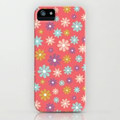 """Butterfly Garden - Daisies"" Phone Cases by Rebecca Stoner"