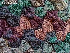 Knitted Scarf Butterflies