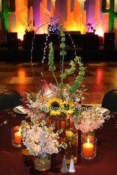 Southwest dinner party table centerpiece. Tony Medlock AIFD & Jeremy Trentelman AIFD