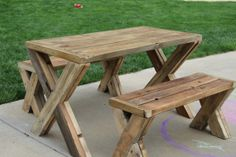 Indoor/Outdoor Tables Made from Reclaimed Wood by ElementsStudioM, $375.00