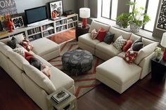 Long Wall In Living Room Living Design Ideas, Pictures, Remodel and Decor