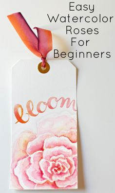 Watercolor roses and brush lettering
