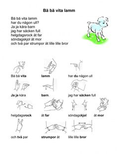 Sign Language Book, Learn Swedish, Swedish Language, Preschool Songs, Deaf Culture, Good To Know, Kindergarten, Singing, Teaching