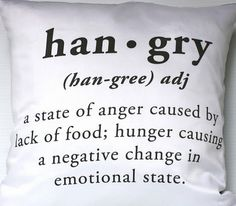 I am really hangry that I didn't come up with this first :(