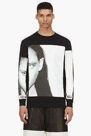 HOOD BY AIR Black & White printed MORPH T-Shirt