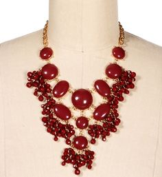 Gold/Burgundy Bubble Necklace Set - Windsor Store - 14.90