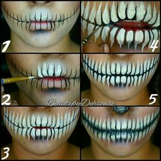 Skeleton mouth make up