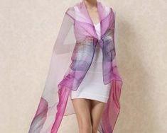 Exkluzívny veľký hodvábny šál vo fialovej farbe0 Formal Dresses, Fashion, Moda, Formal Gowns, La Mode, Black Tie Dresses, Fasion, Gowns, Fashion Models