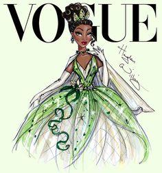 Disney Divas for Vogue by Hayden Williams: Tiana Princess Sketches, Disney Princess Drawings, Disney Princess Art, Princess Style, Disney Art, Princess Anna, Disney Princesses, Disney Movies, Diva Fashion