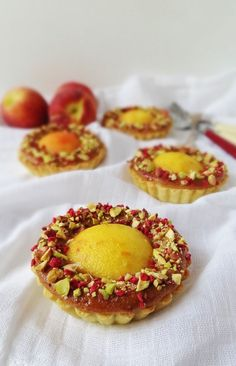 Peach, pistachio & rose tarts - Domestic Gothess #coupon code nicesup123 gets 25% off at  Provestra.com Skinception.com