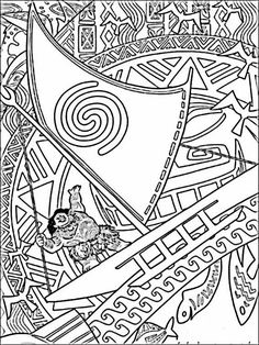 Vaiana - Moana Coloring Pages 6