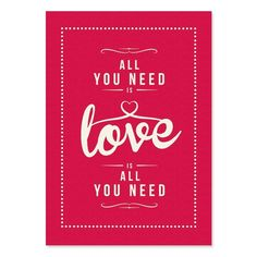 Loves All You Need