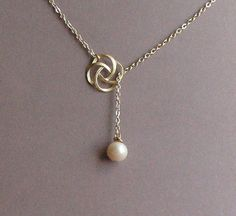 Rose Swirl and Ivory Freshwater Pearl